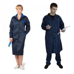 Халат рабочий мужской /женский ткань смесовая